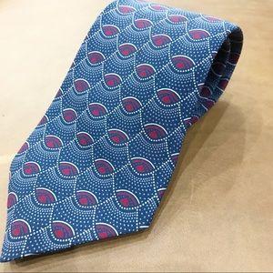 Alfani 100% Silk Fish Scale Pattern Necktie